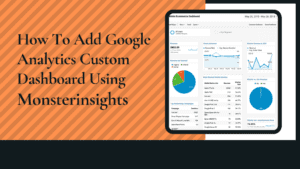 google analytics custom dashboard